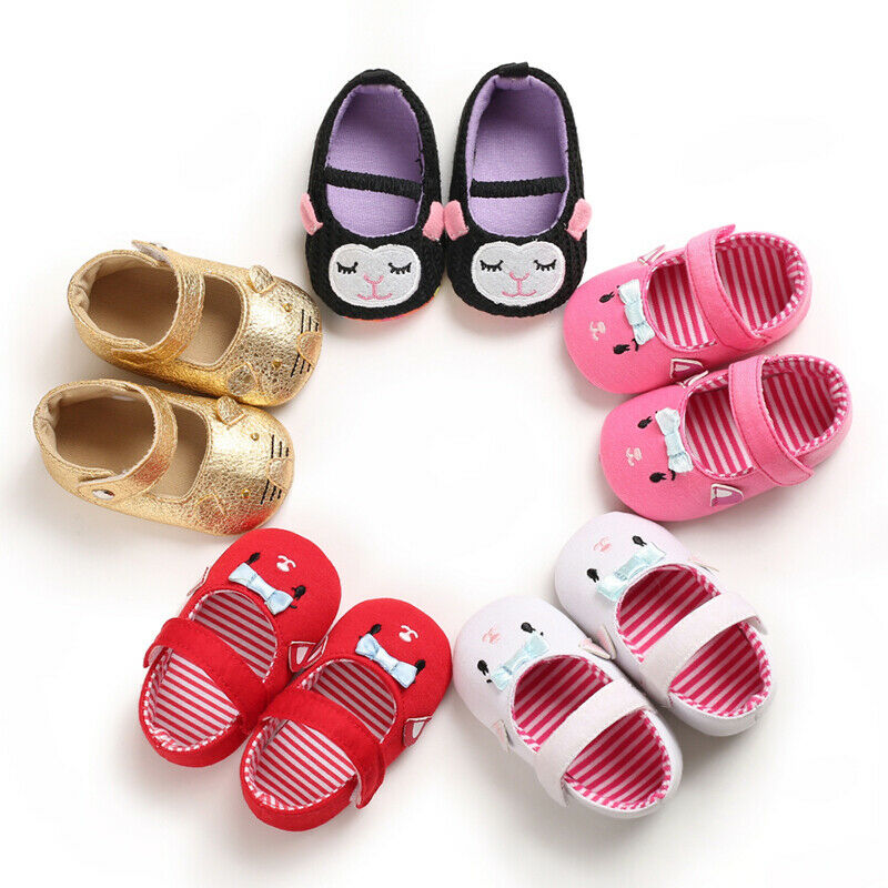 Baby Toddler Infant Leather Crawling First Walker Shoes Non Slip Sole Sneaker Shoes Newborn To 18 Months