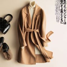 classic coat double faced cashmere coat woolen Original Design Women Autumn Winter Elegant Casual Warm 100%Wool Coat