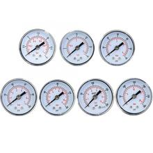 15-300PSI/1-20Bar Double Scale Pointer Type Pressure Gauge Air Oil Water Mechanical Manometer 1/8in BSPT Thread Pressure Meter