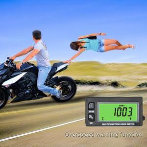 Image 5 - אינדוקטיביים טמפ טמפרטורת מדחום טכומטר RPM Max זוכר מונה שעות עבור ללכת עגלות אופנוע טרקטורונים ימי RL HM028A