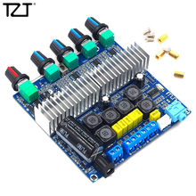 Tzt TPA3116 2.1 Bluetooth Speaker DIY Subwoofer Bluetooth Amplifier Digital Audio Papan 50W * 2 + 100W Bass aux(China)