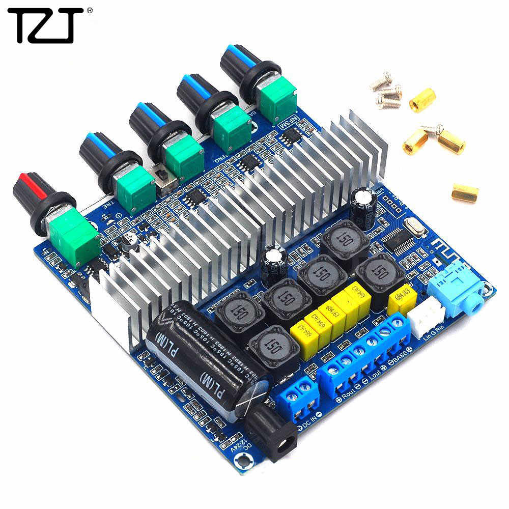 Tzt TPA3116 2.1 Bluetooth Speaker DIY Subwoofer Bluetooth Amplifier Digital Audio Papan 50W * 2 + 100W Bass aux