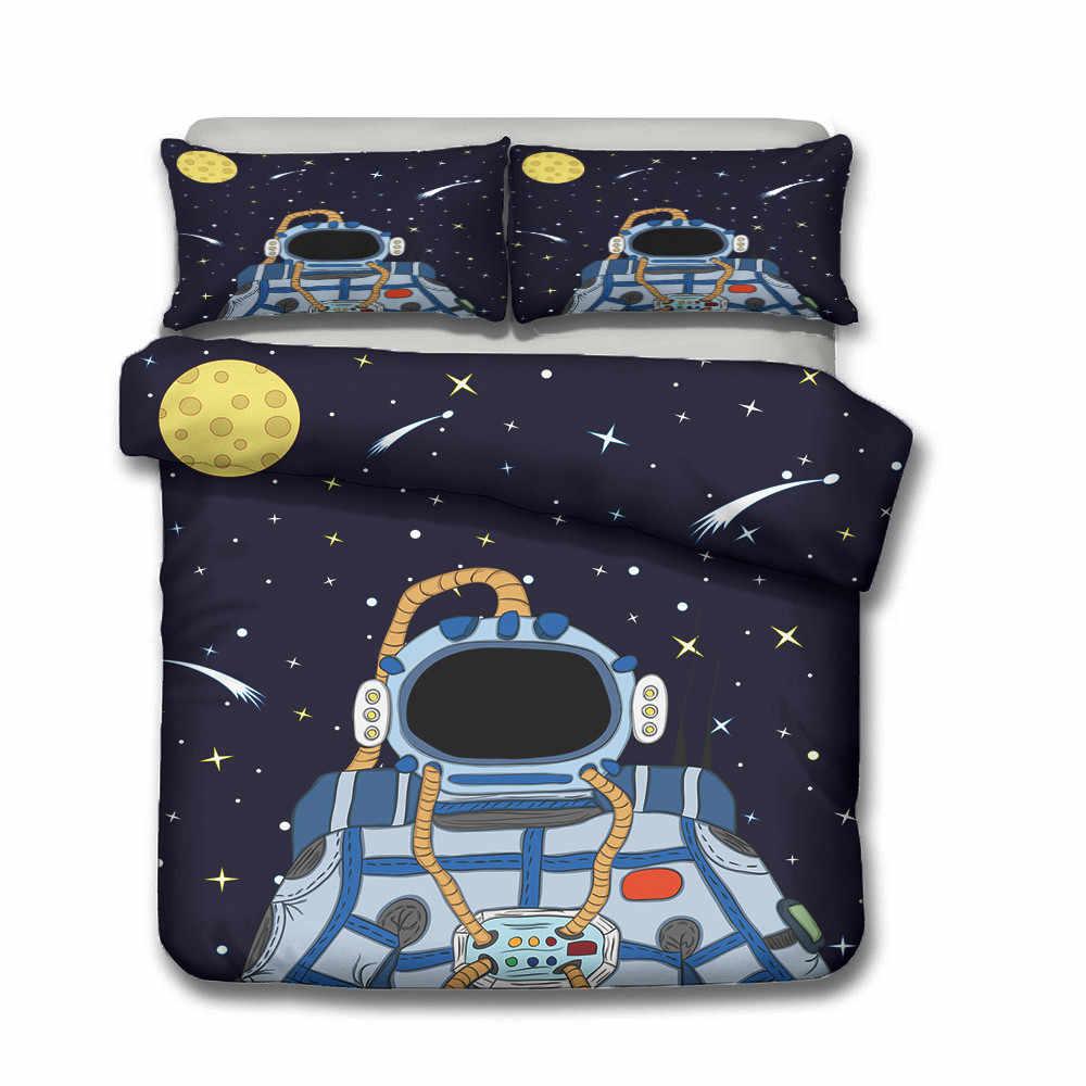3d เตียงชุดเครื่องแต่งกายผ้านวมและชุดเครื่องนอนเตียงเด็กผ้าลินินปลอกหมอน