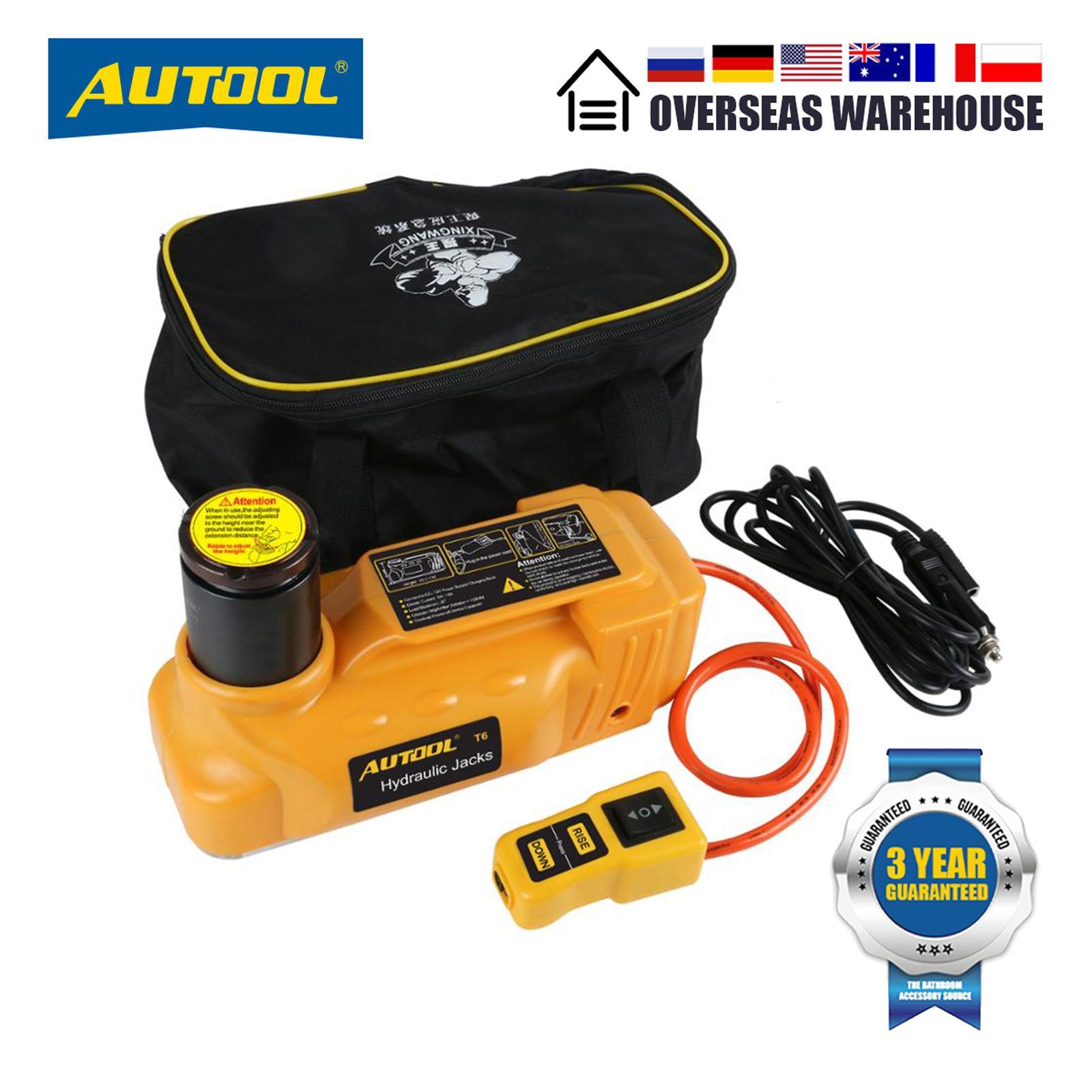 AUTOOL 6T Electric Hydraulic Jack Car Lifing  Automotive Roadside Emergency Tool Lifting  Jack  12V Portable Floor Tool Jack Kit