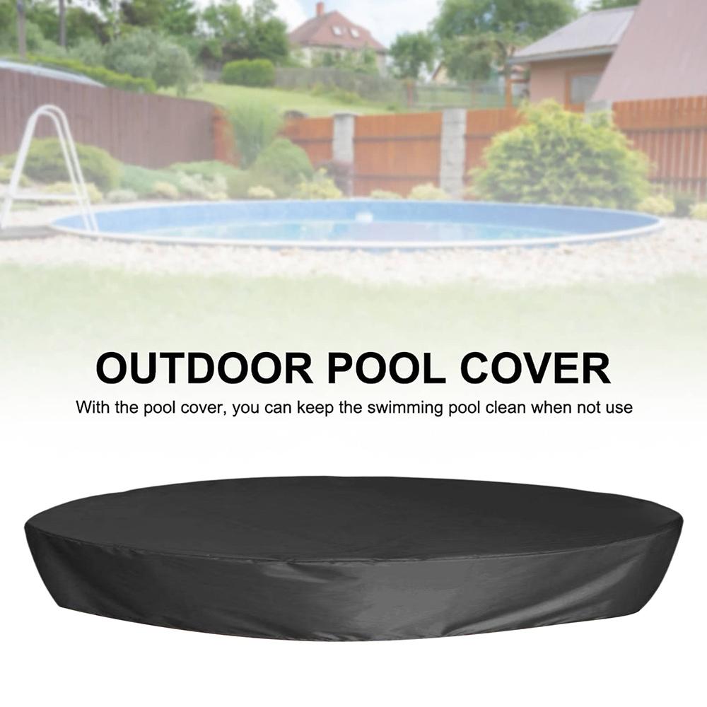 H3a5b376796de491e9e16248ed7064edeM - Round Pool Cover Foldable Black Bathtub Cover 210D Oxford Anti-UV Protector Spa Tub Dust Waterproof Cover Swimming Accessories