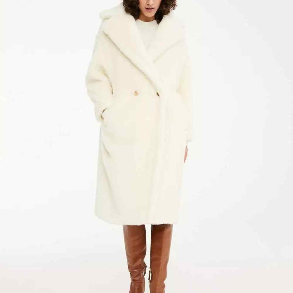 ZA Autumn Winter women Furry Faux Fur Coat lambswool loose oversize Warm Outerwear Coat fur Jacket Fashion Overcoat female