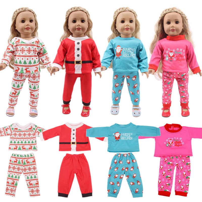 ตุ๊กตาคริสต์มาส Beetle 14 สไตล์สัตว์ชุดนอนผ้าฝ้ายอเมริกัน 18 นิ้ว & 43 ซม.ของเรารุ่นเด็กทารกสาวของขวัญ