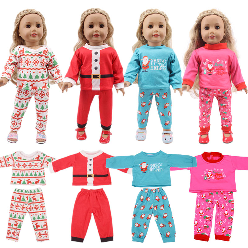 Doll Christmas Beetle 14 Styles Animal Pajamas Cotton Clothes For 18 Inch American&43 Cm Our Generation Born Baby Girl's Gift