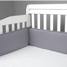 4Pcs/set Solid Color Baby Bed Bumpers Suitable for Round Bed Square Bed Cushion Cot Protector Pillows Newborns Room Decor BTN050