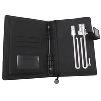 A5 Notebook Business Travel Planner Multi Function Power Notebook Loose Leaf Power Supply Office Notebook