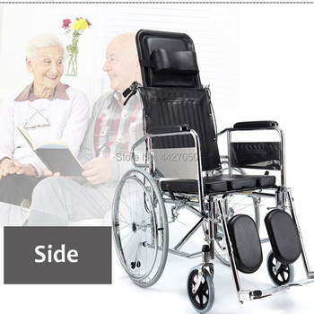 High back folding full reclining chair, stroke, hemiplegia, middle and old aged fracture, leg lift, manual wheelchair