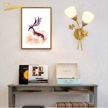 Modern LED Glass Wall Lamp Lighting Creativity Golden Gloss Iron Wall Lights Restaurant Living Room Indoor Decor Lamp Fixtures