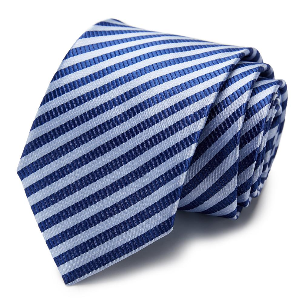 New Classic 100% Silk Men's Ties Neck Ties 7.5 Cm Plaid Striped Ties For Men Formal Business Luxury Wedding Party Neckties