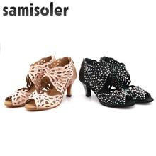 SamisoleJazz Sneakers Kizomba Shoes Dance Diamond High Heel With Rhinestone Latino