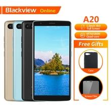 Оригинальный мобильный телефон Blackview A20, 5,5 дюйма, 1 Гб + 8 Гб, четырёхъядерный процессор MTK6580M, Android GO 18:9, полный экран, две SIM карты, модный тонкий для смартфона