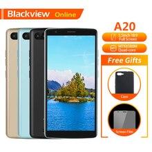 "Blackview original a20 telefone móvel 5.5 ""1 gb + 8 gb mtk6580m quad core android ir 18:9 tela cheia duplo sim moda magro smartphone"