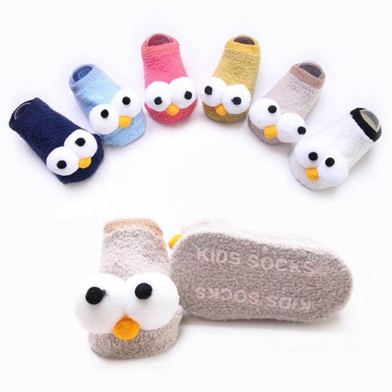 Cute New Eyes Baby Year Girls Boys Anti-Slip Socks Slipper Boot Newborn Soft Rabbit