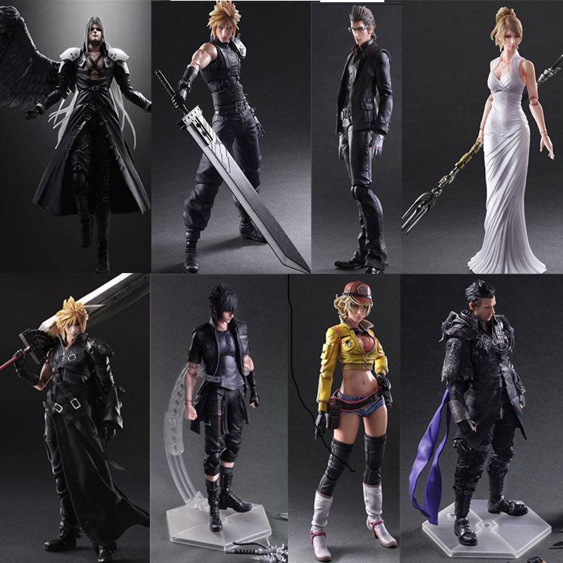 Final Game Fantasy Play Arts Kai Action Figure Cloud Strife Sephiroth Noctis Lucis Squall Leonhart Cindy Aurum Figures Toy Doll