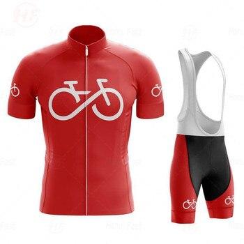 Camisa de ciclismo 2020nova espanha verão dos homens camisa ciclismo conjunto curto mtb bicicleta ciclismo roupas triathlon 1