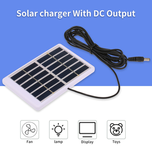 84*130mm Portable Solar Panel Solar Charger 1.2W/6V With 5521 DC Output Cable Battery Charger For Pump Battery Cell Phone