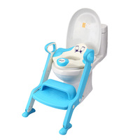Red Blue Green Baby Potty Seat With Ladder Children Kids Toilet Seat Cover New Style Folding Infant Toddler Toilet Training Seat