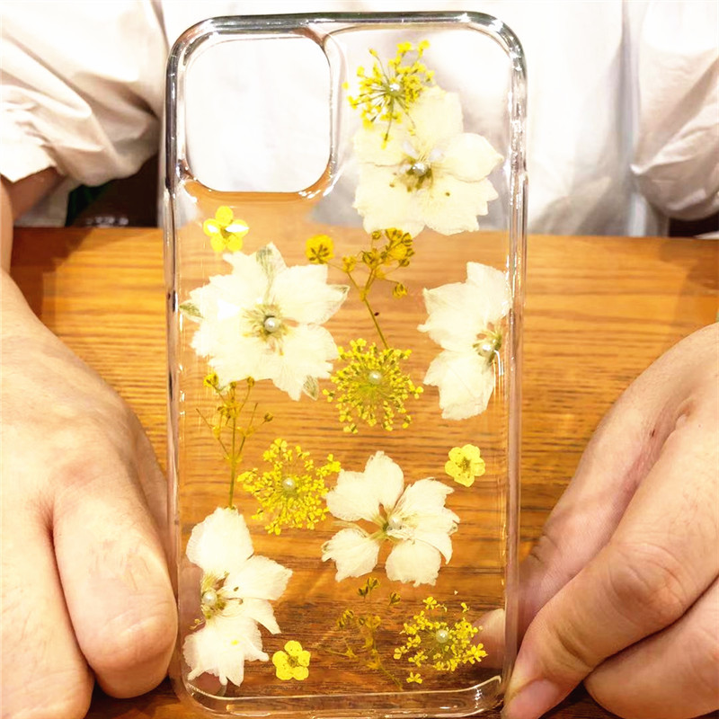 Real Dried Flowers Clear TPU Case for iPhone 11/11 Pro/11 Pro Max 16