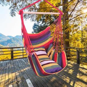 Hamaca SILLA DE columpio colgante Silla de cuerda portátil asiento de porche para interior al aire libre almacén de EE. UU. Triangulación de envío disponible