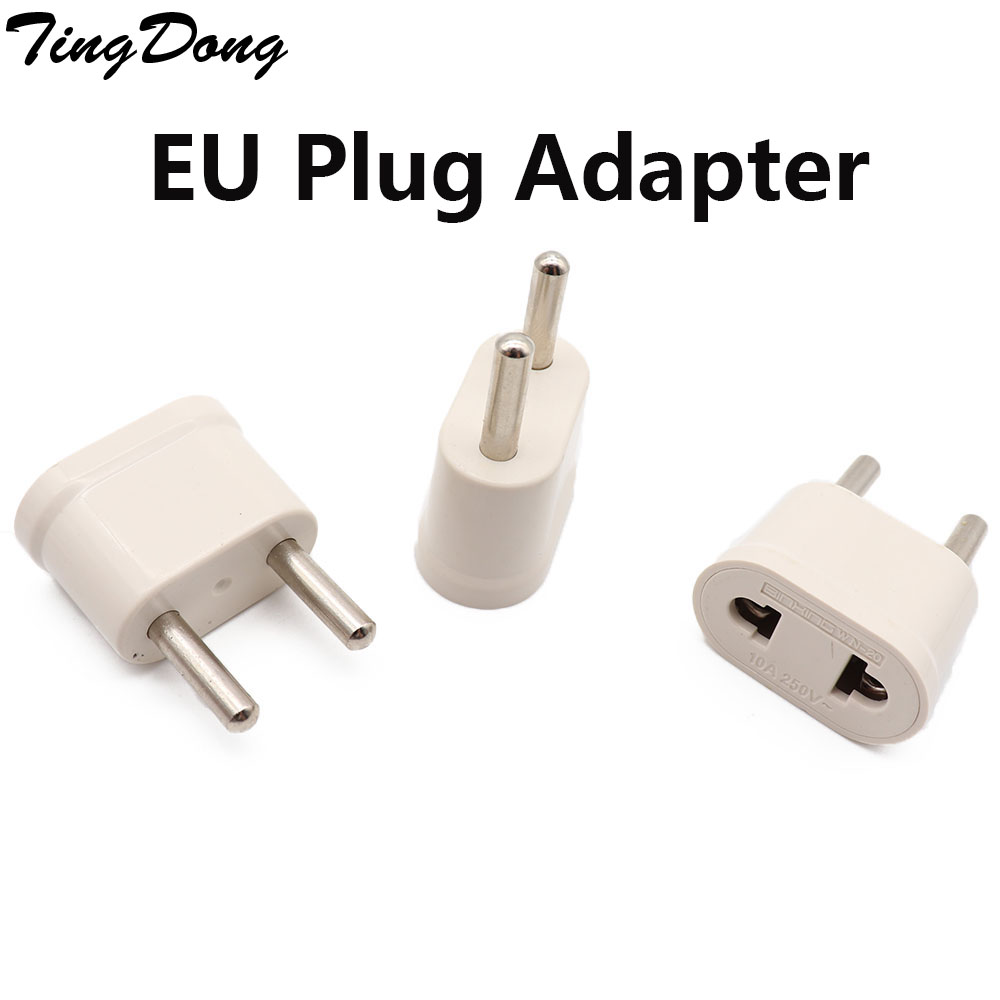 TingDong 1pcs <font><b>EU</b></font> KR <font><b>Plug</b></font> Adapter Japan <font><b>CN</b></font> US <font><b>To</b></font> <font><b>EU</b></font> Euro European Travel Adapter Electric <font><b>Plug</b></font> Power Cord Charger Sockets Outlet image