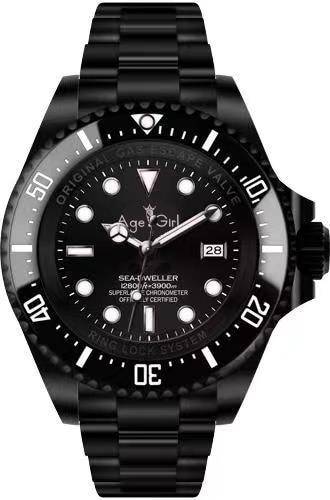 Luxury Brand New Men Watch Automatic Mechanical Black Case Blue Gradient Sapphire Ceramic Casual 44mm Stanless Steel 116660