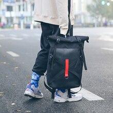 Eğlence Unisex Sırt Çantası Bez Moda Öğrenci Sırt Çantası Dikiş Çift Trend Sırt Çantası sokak Gençlik Çok fonksiyonlu Çanta Giyim