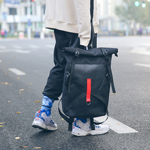 Leisure Unisex Backpack Cloth Fashion Student Bagpack Stitching Couple Trend Rucksack street Youth Multi function Bag Wear