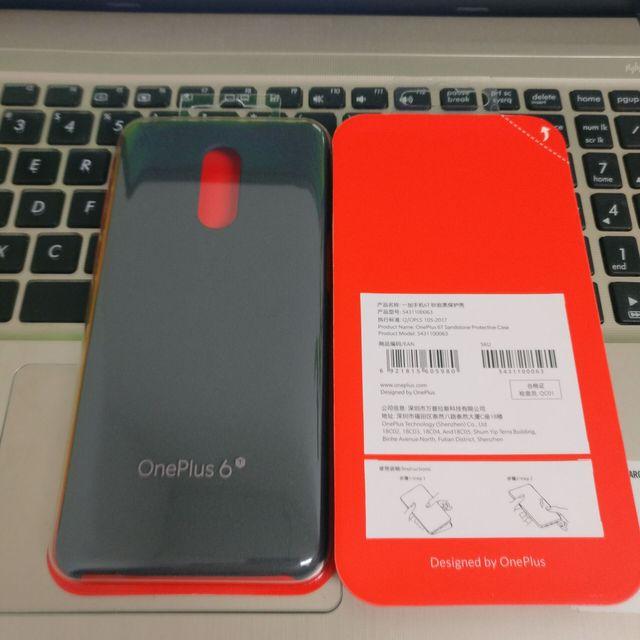 Original Official For OnePlus 6T Genuine Sandstone Karbon Matte Slim Back Skin Hard Case Cover