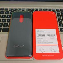 Originele Officiële Voor Oneplus 6T Echt Zandsteen Karbon Matte Slim Terug Skin Hard Case Cover