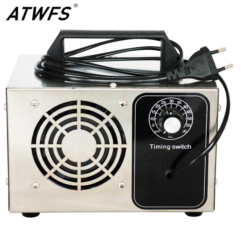 ATWFS Ozone Generator 220v 60g/48g/36g/28g/24g Ozonizer Air Purifier Home Cleaner Sterilizer Treatment Ozono Remove Formaldehyde