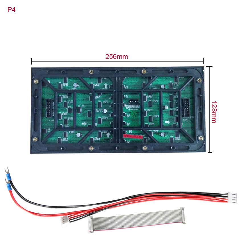 Seamless Splice Led Display P4 SMD Led Module 64x32dots 256*128mm For Outdoor Full Color HD Led Video Wall Panel