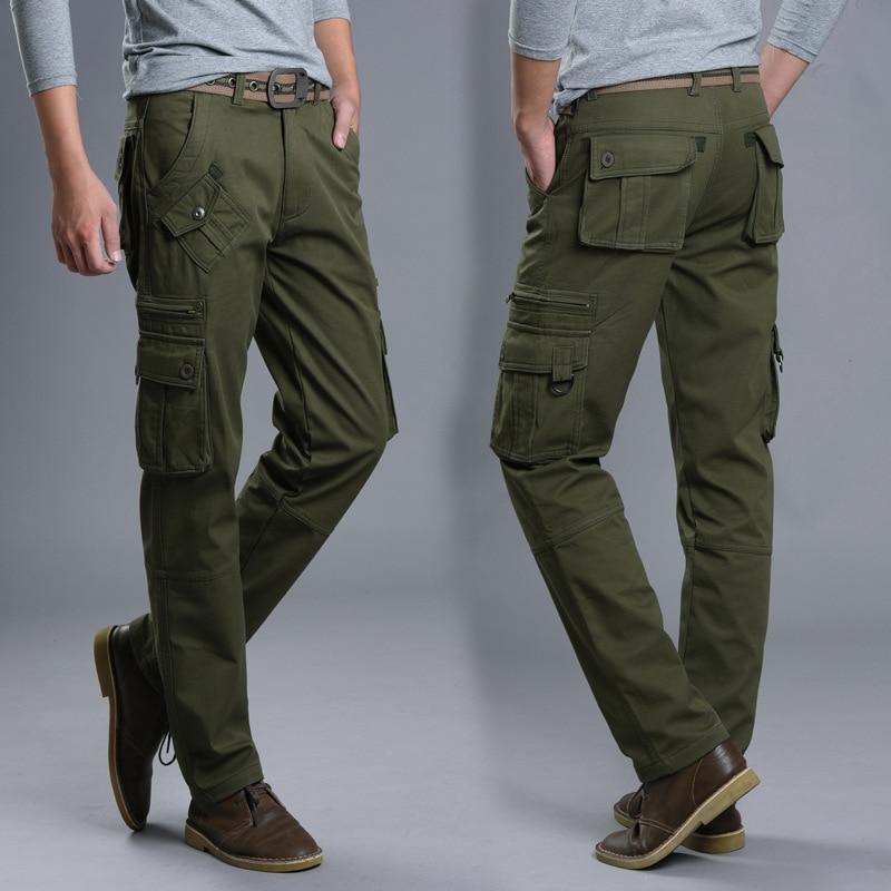 Plus Velvet Bib Overall MEN'S Trousers Multi-pockets Straight-Cut Loose-Fit Outdoor Bags Large Size Men's Trousers Trend MEN'S P