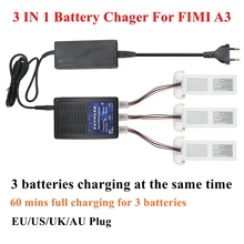 3 IN 1 Lipo Battery Charger Compatible for FIMI A3 RC Quadcopter Three Batteries Charging Same Time FIMI A3 Smart Blance Charger