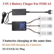 Chargeur de batterie 3 en 1 Lipo Compatible pour FIMI A3 RC quadrirotor trois Batteries chargeant le même temps FIMI A3 chargeur intelligent Blance