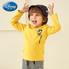 Disney 2019 Fashion Kid Mickey Baby Long-Sleeved Round Neck T-Shirt Kids Boy Horizontal Stripes New Long-sleeved Top