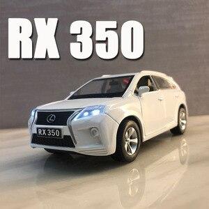 Image 1 - Lexus SUV RX350 1:32, modèle de voiture en alliage moulé sous pression, modèle de voiture jouet pour enfants, cadeaux danniversaire de noël, livraison gratuite