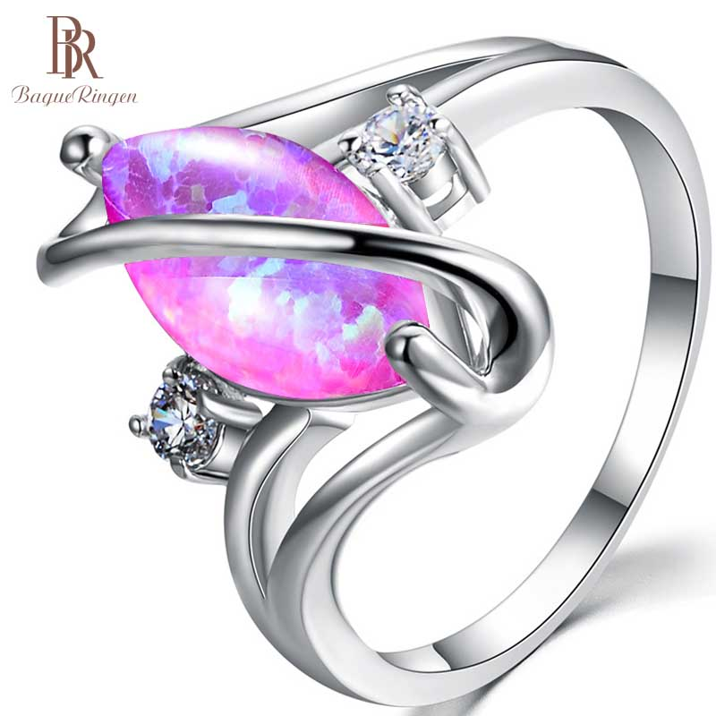 Bague Ringen Oval Natural Opal Ring With 10mm Gemstone 925 Sterling Silver Ring Fine Jewelry Gift Wholesale Woman Party Gifts