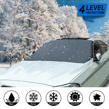 210*120cm Automobile Magnetic Sunshade Cover Car Windshield Snow Sun Shade Waterproof Protector Cover Car Front Windscreen Cover 1
