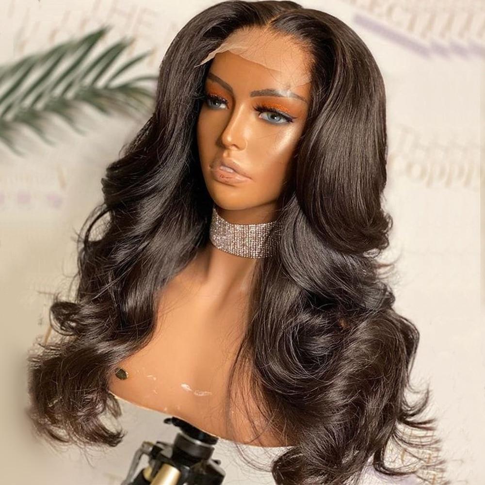 Mode Plus Volle Spitze Menschliches Haar Perücken Für Frauen Körper Welle Brasilianische Remy Haar Spitze Vorne Perücke 150% Wellenförmige Spitze frontal Perücken