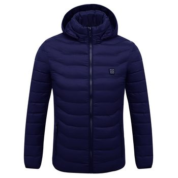 Mens Women Heated Outdoor Parka Coat USB Electric Battery Heating Hooded Jackets Warm Winter Thermal