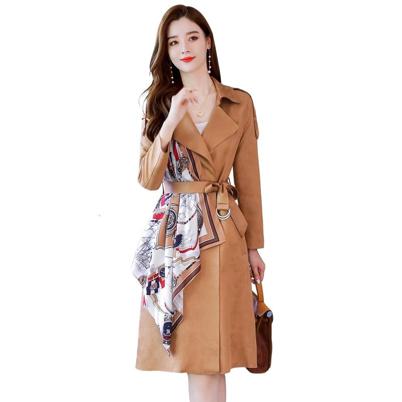 2020 New Spring Fashion Women Clothes LANMREM2020 TURN-down Collar Scarf Patchwork Velvet Fabric High Quality Jacket WJ97004