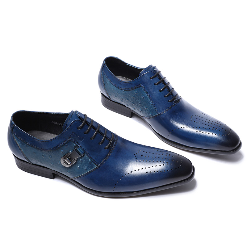 FELIX CHU อิตาเลี่ยน Designer หนัง Mens Oxford รองเท้าผู้ชาย Party งานแต่งงานสีดำ Brogue รองเท้า-ใน รองเท้าทางการ จาก รองเท้า บน   2