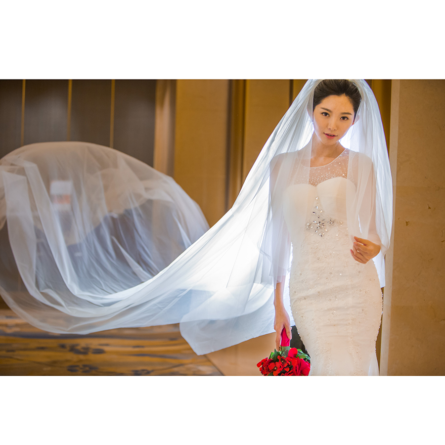 2019 New Arrive Two Layers 5m Long Soft Tulle White&ivory Wedding Veils With Cut Edge3m Veil With Comb Wedding Dress Accessories