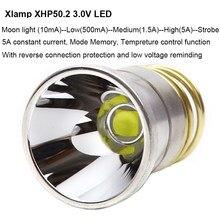 Lampe de poche 26.5mm 5A XHP50.2 3V XHP50, contrôle de température, Mode mémoire, ampoule LED, pour P60 P61 6P 9P M5 M6 501B 502B