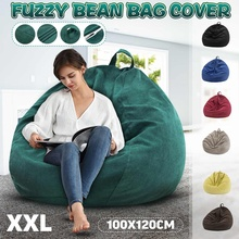 Cover Seat-Bean-Bag Lounger Couch Tatami Pouf-Puff Lazy-Sofas Living-Room Inner-Liner