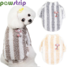 Soft Warm Dog Coat Winter Clothes Cherry Cat Puppy Shirt Clothing Pet Jacket For Small Dogs Chihuahua Yorkshire Pug